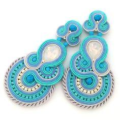 soutache earrings, soutache jewelry, bridal jewelry | SABO DESIGN