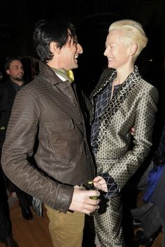 Diesel Celebrates Collection With Edun - Adrien Brody and Tilda Swinton. Two of my favs!