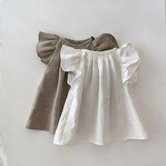 Children Off-White Linen Blouse, Toddler Girl Top, Toddler Girl Style, Toddler Fashion, Toddler Outfits, Kids Outfits, Kids Fashion, Toddler Girls, Kids Girls Tops, Kids Clothes Boys, Toddler Hair