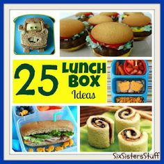 Six Sisters' Stuff: 25 Fun Lunch Box Ideas. Cutest food ever! Lunch Box Bento, Lunch Snacks, Toddler Meals, Kids Meals, Lunch Saludable, Kids Lunch For School, School Lunches, Do It Yourself Food, Cool Lunch Boxes