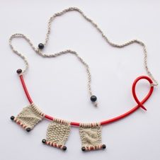 knitting necklace by angela knipe