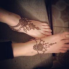 Instagram media by brooklynhennaco - Henna done on my mom inspired by anklets…