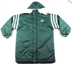 139a89782cc7a 90 s préciser gros Logo Adidas sur Full Zip Puffer Parka à Adidas Logo