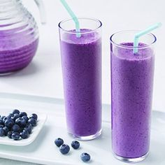 BLUEBERRY POMEGRANATE SMOOTHIE:       1 can (12 fluid ounces) Evaporated Fat Free or Lowfat 2% Milk     2 cups frozen or fresh blueberries     1 cup pomegranate juice     1/4 cup frozen orange juice concentrate     2 tablespoons honey or more to taste     1/2 cup ice cubes