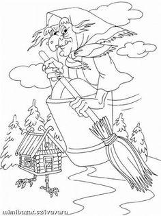 DEN ČARODĚJNIC PRACOVNÍ LISTY OMALOVÁNKY Colouring Pics, Doodle Coloring, Coloring Book Pages, Halloween Coloring Pictures, Halloween Coloring Pages, Halloween Activities, Halloween Crafts, Doodle Images, Bricolage Halloween