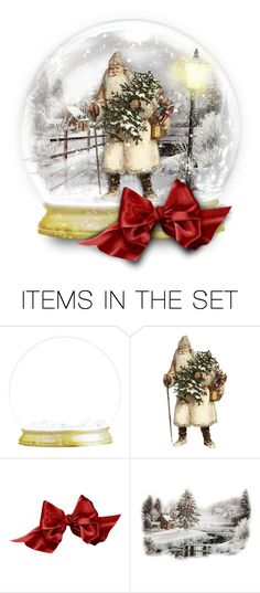 """""""Father Christmas snow globe"""" by collagette ❤ liked on Polyvore featuring art and artset"""