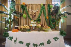 *Ethan's 1st Birthday Party* Safari Theme Dessert Table