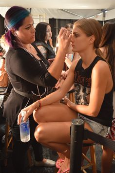 Backstage - Behind The Scenes - Makeup by BSA, Beauty Schools of America for Mercedes-Benz Fashion Week, Miami Swim for Brazilian label, POKO PANO - 2015 Collection. More Photos on Facebook Fan Page: https://www.facebook.com/bsafans
