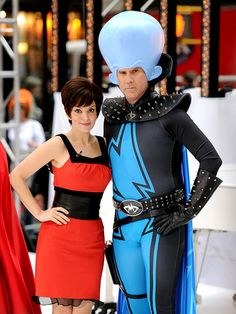Halloween Costumes Celebrity Couples - Tina Fey and Will Ferrell as the characters they voiced over