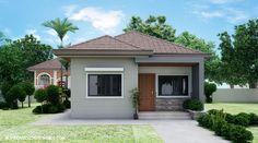 Plano de casa de 7x12 metros en una planta Bungalow Haus Design, Modern Bungalow House, Style At Home, Filipino House, Roof Terrace Design, Hacienda Style Homes, House Design Pictures, Three Bedroom House Plan, Simple House Design