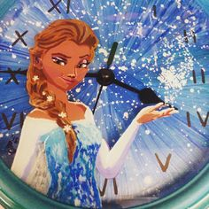 A personal favorite from my Etsy shop https://www.etsy.com/listing/240520676/frozen-pop-art-glass-painting-clock