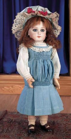 Puppen & Spielzeug Museum: 312 Beautiful French Bisque Premiere Jumeau,Size 5