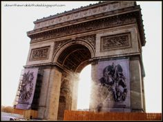 """Visit the stunning Arc de Triomphe in Paris. Find out more at """"Down the Wrabbit Hole - The Travel Bucket List"""". Click the image for the blog post."""