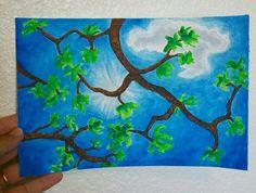 """Looking up!"" by: Lorel Lee. Watercolor painting."