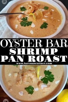 Oyster-Bar Shrimp Pan Roast Recipe an old-school iconic seafood restaurant favorite from New York City, to casinos in Nevada. A retro recipe. #panroast #iconicrecipe #shrimpanroast #comfortfood