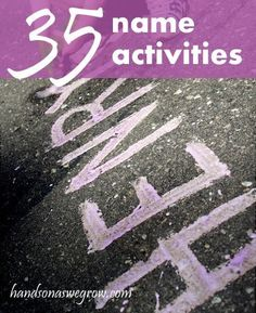 35 fun activities to learn their name