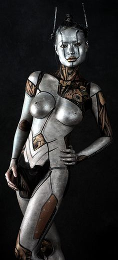 ♥Robotic body paint