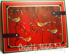 handmade card by Michelle Zindorf ... Asian theme ... red with gold and black ... gorgeous!
