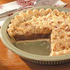 German Chocolate Pie Recipe | Taste of Home Recipes