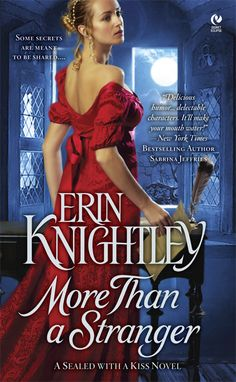 More Than a Stranger - Book 1 of the Sealed with a Kiss series. Love that red dress!