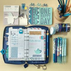 #ShareIG Day 7: Blue - Today in my Cobalt Blue Pennybridge Filofax