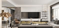 Chinese Furniture, Tv Unit, Drawing Room, Luxury Living, Modern Interior, Living Room Designs, Mirror, House, Wall Tv