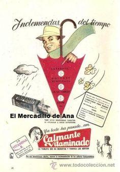 CALMANTE VITAMINADO ANUNCIO PUBLICIDAD DE FARMACIA CARTEL PEQUEÑO
