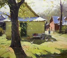 Modern Impresionism in Oil by Colley Whisson at the Waverly Artists Group Studio. May 2013