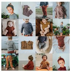 Our new organic cotton collection - available now in beautiful, earthy shades. Newborn to 6/7 Years