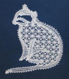 Advanced Embroidery Designs - FSL Battenberg Cat Lace
