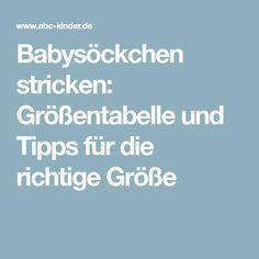 Babysöckchen stricken: Größentabelle und Tipps für die richtige Größe