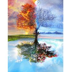 Faithful New Sunset Lake View Football Fire Tree Diamond Embroidery Diy Cross Stitch Living Room Hanging Painting Mural Home Decoration Patterns Arts,crafts & Sewing