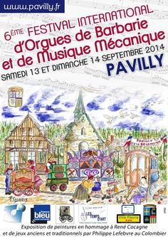 6ème Festival international d'orgues de Barbarie et de musique mécanique. Du 13 au 14 septembre 2014 à pavilly.