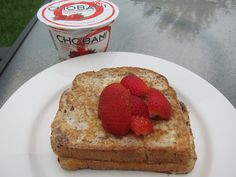 peanut butter french toast with chobani