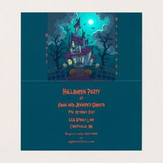 #Halloween Haunted House Invitation - #Halloween #happyhalloween #festival #party #holiday
