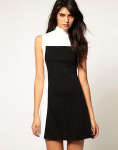 Pearl Color Block Dress
