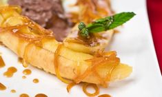 Receta de Plátanos flambeados con salsa de cítricos