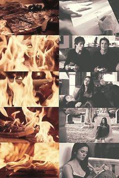 Elena Gilbert - Nina Dobrev x Steven R. McQueen - Jeremy Gilbert x Damon Salvatore - Ian Somerhalder ~ The Gilbert house burns down