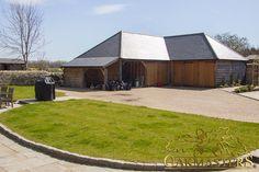 L shaped oak outbuilding complex in Sussex - Oakmasters