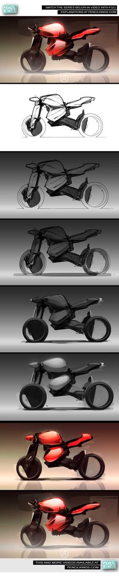 Motorcycle Concept Sketching Video Series  By: James Ellis  To watch the full series please visit us at www.pencilkings.com