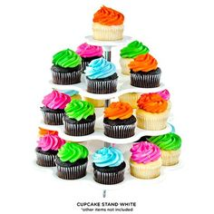 4-Tier Plastic Cupcake and Dessert Stand - Assorted Colors at 54% Savings off Retail!