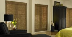 3 Day Blinds Woven Wood Shades - One of today's hottest styles, offers a renewable way to bring the outside in.