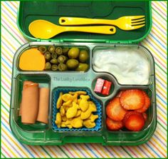 The Lucky Lunchbox/ Natural Selects bologna rolls packed in the Yumbox
