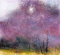 Kurt Jackson: Weak sunshine through the blossom in an almond grove, Andalucia Campden Gallery, fine art, Chipping Campden, camden gallery, contemporary, contemporary arts, contemporary art, artists, painting, sculpture, abstract painting, gloucestershire,  cotswolds, painting for sale, artwork for sale, modern art gallery, art exhibitions,arts gallery, gallery art, art gallery UK