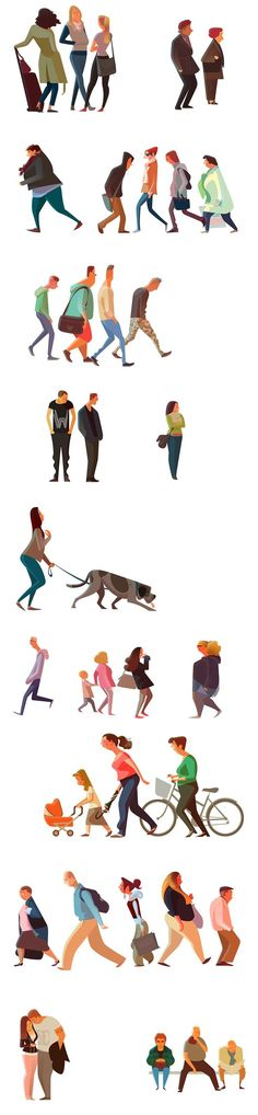 Commuters 1 by Sukanto Debnath! // it's a spring break goal to take each of these groups and write character frames for each of them. Then maybe one might turn into a good protagonist:) Art And Illustration, People Illustration, Character Illustration, Character Design References, Character Art, Academic Drawing, Doodle Drawing, Drawn Art, Animation