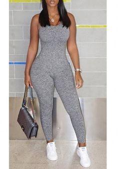 d3ffe8fadc18 Shop Women Low Cut Drawstring Open Back Slinky Jumpsuit – Discover sexy  women fashion at IVRose