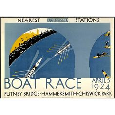 Boat Race 1924 Poster | London Transport Museum Shop