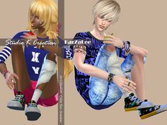 Sims 4 CC's - The Best: Sneakers by Studio K Creation