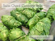 A delicious and healthy Swiss Chard take on traditional stuffed Cabbage Rolls Beet Leaf Recipes, Kale Recipes, Beef Recipes, Cooking Recipes, Polish Food, Polish Recipes, Healthy Meals To Cook, Healthy Eating, Meals