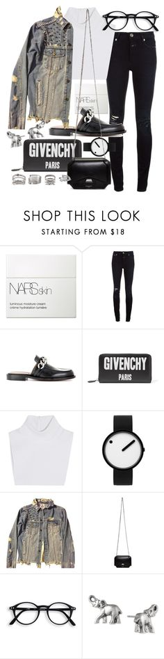 """Untitled #21437"" by florencia95 ❤ liked on Polyvore featuring NARS Cosmetics, Closed, Givenchy, Michael Kors, Rosendahl, UNIF, Lonna & Lilly and Forever 21"